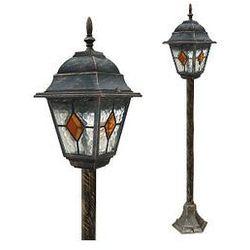 Zewnętrzna LAMPA stojąca MONACO 8185 Rabalux IP43 OPRAWA SŁUPEK outdoor złoto antyczne - produkt z kategorii- lampy ogrodowe