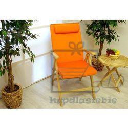 Divero Komplet 4 x poduszka garth na krzesło pomarańczowy