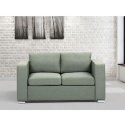 Sofa oliwkowa - dwuosobowa - kanapa - sofa tapicerowana - HELSINKI ze sklepu Beliani