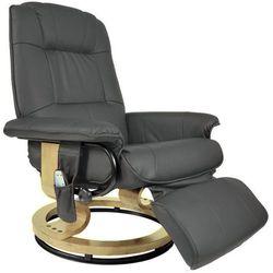 Regoline Szary fotel masujący wypoczynkowy biurowy masaż grzanie - szary