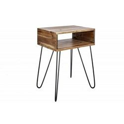 INVICTA stolik SCORPION 40 cm akacja - lite drewno, metal