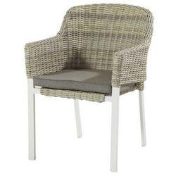 Krzesło ogrodowe w kolorze white/sunny cream | Cairo