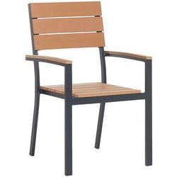Beliani Krzesło ogrodowe jasne drewno como (4260580925001)