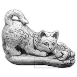 1 Figura ogrodowa betonowa kot z ropuchą 6cm