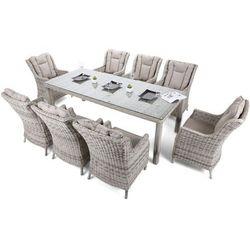 Home & garden Meble ogrodowe technorattanowe bristol 230 cm light grey / light grey 8+1 (5902425328293)