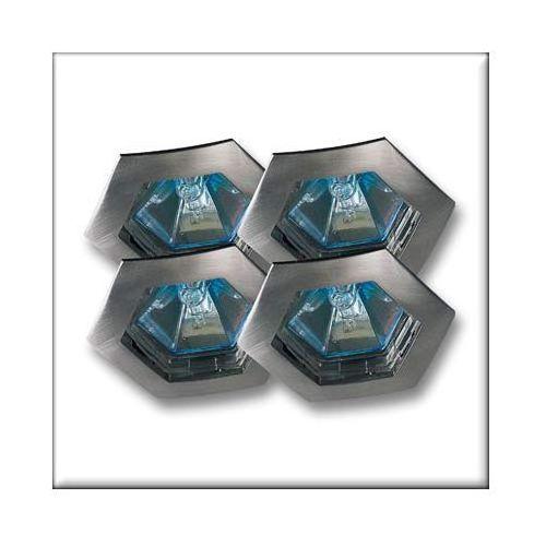 Wysokogat.oprawy wbudowywane Hexa, 4x35W żelazo satyn. z kategorii oświetlenie