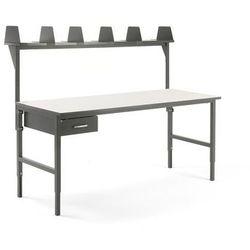 Aj produkty Stół roboczy cargo, 2000x750 mm, szuflada, nadstawka