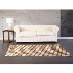 Dywan brązowy - 160x230 cm - skórzany - USAK