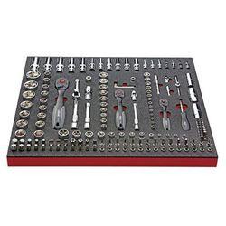 Zestaw narzędzi COMFORT, klucz nasadowy i wyposażenie dodatkowe, 171-częściowy,