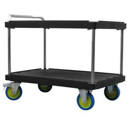 Wózek stołowy do dużych obciążeń, dł. x szer. 1200x800 mm, nośność 1000 kg, czar marki Eurokraft