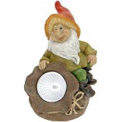Lampa solarna krasnal figurka kamienna WOREK - worek