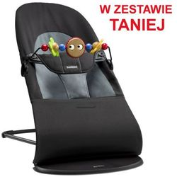 BABYBJORN - leżaczek BALANCE SOFT - Czarny / Ciemnoszary + Zabawka (7317686050018)