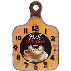 Kuchenny zegar ścienny DESKA DO KROJENIA, drewniany