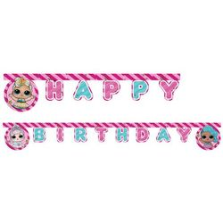 Baner Happy Birthday LOL Glitterati - 210 cm - 1 szt. (5201184908631)