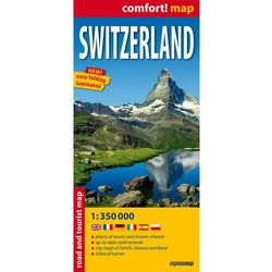 Switzerland Laminowana Mapa Samochodowo-Turystyczna 1:350 000, książka z kategorii Geografia