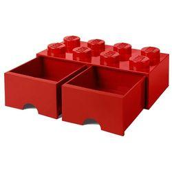 POJEMNIK LEGO 8 Z SZUFLADĄ CZERWONY - LEGO POJEMNIKI