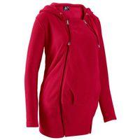 Bluza z polaru ciążowa, z wstawką niemowlęcą bonprix ciemnoczerwony, w 4 rozmiarach