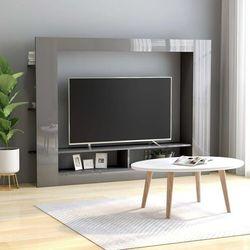 Vidaxl szafka tv, wysoki połysk, szara, 152x22x113 cm, płyta wiórowa