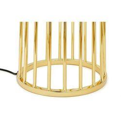 Lampa podłogowa HOLMES STRAIGHT złota z czarnym kloszem - metal