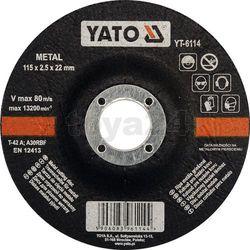 Tarcza do cięcia metalu 115x2,5x22 mm / yt-6114 /  - zyskaj rabat 30 zł marki Yato