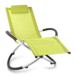 chilly billy leżak ogrodowy leżak relaksacyjny aluminium limonkowy marki Blumfeldt