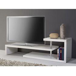 Stolik pod telewizor - regał, biały - CONCORD