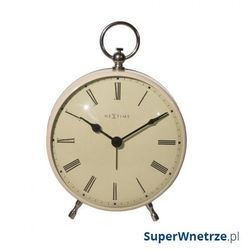 Zegar stojący 17,5 cm NeXtime Charles kremowy, kolor Zegar