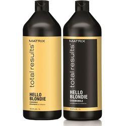 total results hello blondie - zestaw do włosów blond: szampon+odżywka 2x1000ml, marki Matrix