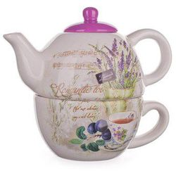 Banquet Lavender Czajnik z filiżanką