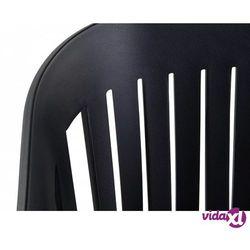 Beliani Krzesło do jadani czarne dallas (7081451897350)
