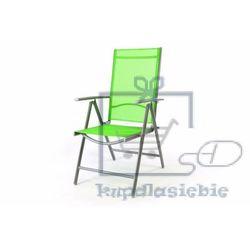 Krzesło aluminiowe rozkładane ogrodowe Gardenay zielone