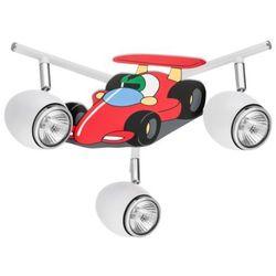 Lampa dla dziecka Samochód wyścigówka - Car biały/ chrom LED GU10 3x4,5W, 2206302