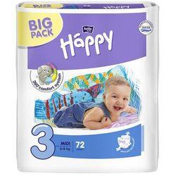 Pieluszki dla dzieci Bella Baby Happy Midi (3) 5-9 kg 72 szt. BIG PACK z kategorii Pieluchy jednorazowe