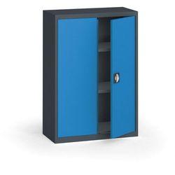 Kovona Szafa metalowa, 1150 x 800 x 400 mm, 2 półki, antracyt/niebieska
