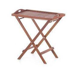 Drewniany stolik ogrodowy - stolik balkonowy - taca - TOSCANA (7081452118669)