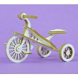 Ozdoba 3d - rowerek trzykołowy marki Crafty moly