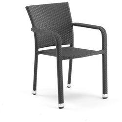 Krzesło kawiarniane z czarnego rattanu z podłokietnikami - sprawdź w wybranym sklepie