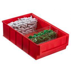 Plastikowy pojemnik do regału Shelfpoj., 183 x 300 x 81 mm, czerwony (4005187565317)