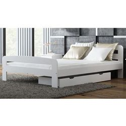 Łóżko Klaudia 120x200 białe z materacem bonellowym, lozko-sosnowe-klaudia-120x200-biale-z-materacem-bonellowym
