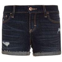 Abercrombie & Fitch Szorty jeansowe darkblue denim, kolor niebieski