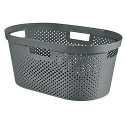 kosz na pranie do magla infinity 40 l recycled ciemny szary - darmowa dostawa od 95 zł! marki Curver