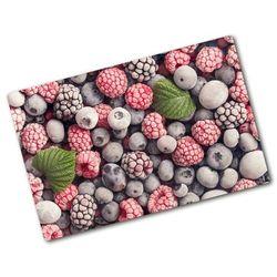 Deska kuchenna duża szklana Mrożone owoce leśne