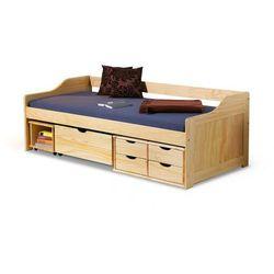 Łóżko drewniane z szufladami Nixer