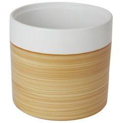 Doniczka ceramiczna GoodHome ozdobna 24 cm efekt drewna (3663602441021)