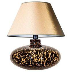 Abażurowa lampa nocna tanzania l005092207 stojąca lampka orientalna do sypialni jasnozłota marki 4concepts