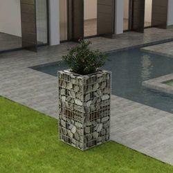 Vidaxl Donica gabionowa ze stali, 50x50x100 cm