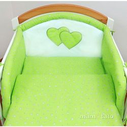 MAMO-TATO pościel 2-el Kwiatuszki zielone do łóżeczka 70x140cm z kategorii komplety pościeli dla dzieci