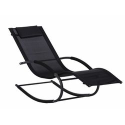 Goodhome Leżak ogrodowy leżanka fotel bujany