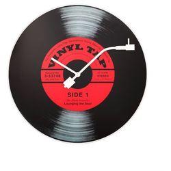Nextime:: Zegar Ścienny Vinyl Tap Ø 43 cm Czarny