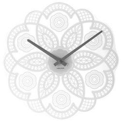 Zegar ścienny Lace cut out white by Karlsson, kolor biały